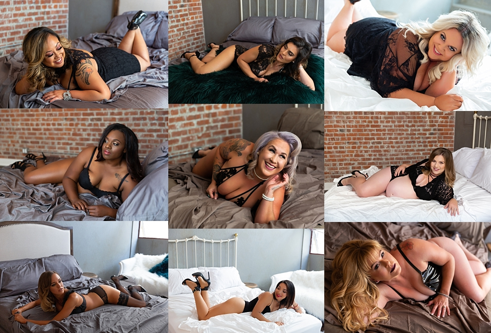 Bay Area Boudoir Photographer Adeline & Grace Intimates. Hair and makeup by The Glamour Room Napa